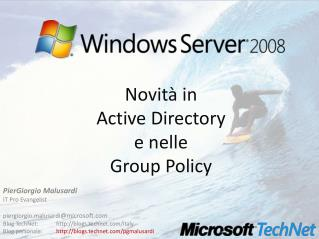 Novit  in  Active Directory  e nelle  Group Policy