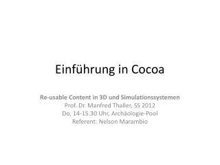 Einführung in Cocoa