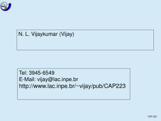 N. L. Vijaykumar (Vijay)