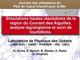 Journée des utilisateurs du  Pôle de Calcul Intensif pour la Mer