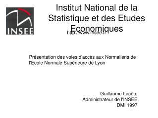 Institut National de la Statistique et des Etudes Economiques