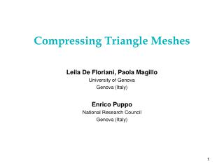 Compressing Triangle Meshes