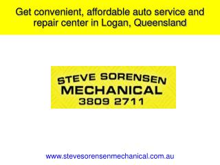 Get convenient, affordable auto service and repair center