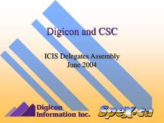 Digicon and CSC