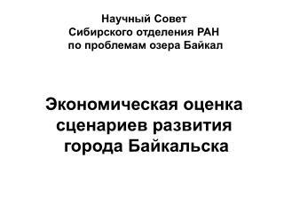Сопутствующие экономические, экологические и социальные проблемы города Байкальска