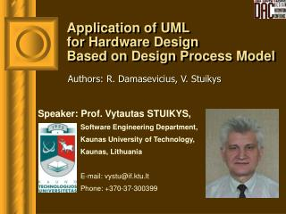 Application of UML  for Hardware Design  Based on Design Process Model