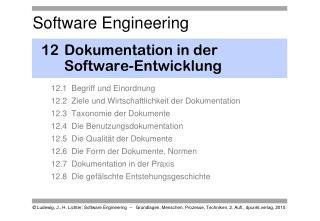 12Dokumentation in der Software-Entwicklung