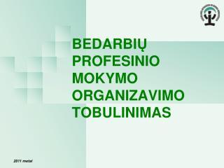 BEDARBI Ų PROFESINIO MOKYMO ORGANIZAVIMO TOBULINIMAS