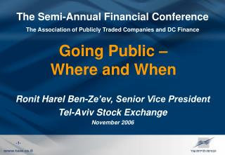 The Semi-Annual Financial Conference The Association of Publicly Traded Companies and DC Finance