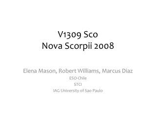 V1309 Sco Nova Scorpii 2008