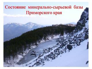 Состояние минерально-сырьевой базы Приморского края