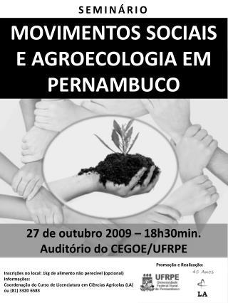 MOVIMENTOS SOCIAIS E AGROECOLOGIA EM PERNAMBUCO