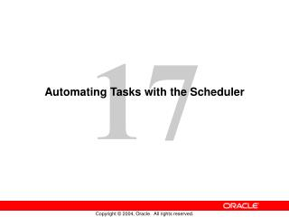 Automating Tasks with the Scheduler