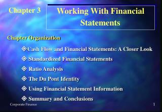  Cash Flow and Financial Statements: A Closer Look   Standardized Financial Statements