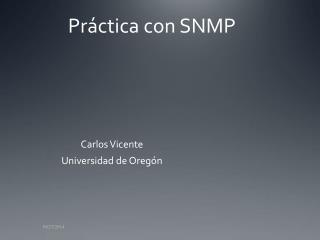 Práctica con SNMP