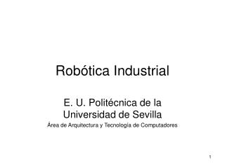 Rob tica Industrial