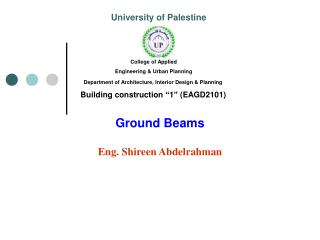 Ground Beams Eng. Shireen Abdelrahman