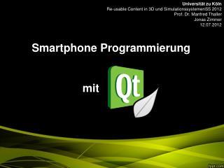 Smartphone Programmierung  mit            .