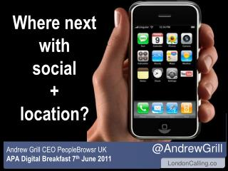 Where next with  social +  location?