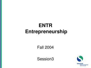 ENTR  Entrepreneurship