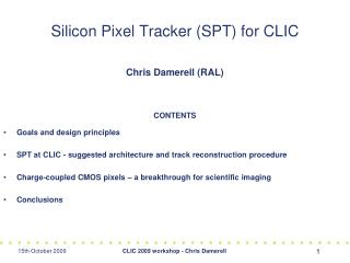 Silicon Pixel Tracker (SPT) for CLIC