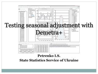 Testing seasonal adjustment with Demetra +