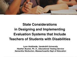 Increasing effective and highly effective teachers State Considerations