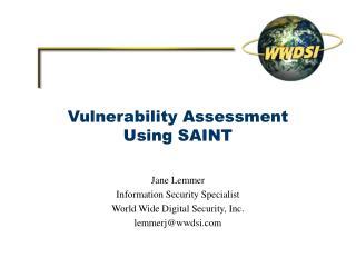 Vulnerability Assessment Using SAINT