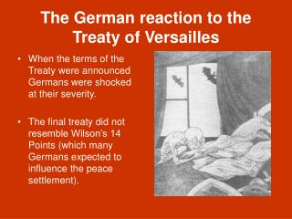 The German reaction to the Treaty of Versailles