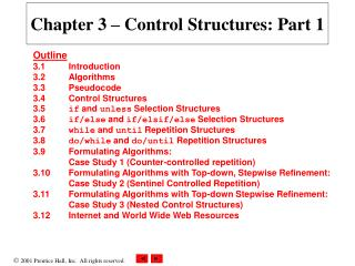 Chapter 3 – Control Structures: Part 1