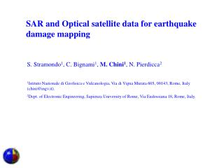 SAR and Optical satellite data for earthquake damage mapping