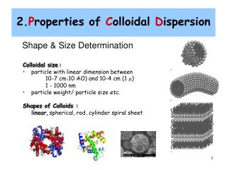 2.Properties of Colloidal Dispersion