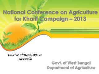 On 6 th  & 7 th  March, 2013 at   New Delhi