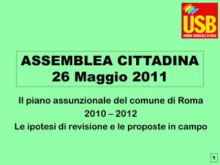 ASSEMBLEA CITTADINA  26 Maggio 2011