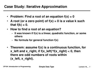 Case Study: Iterative Approximation