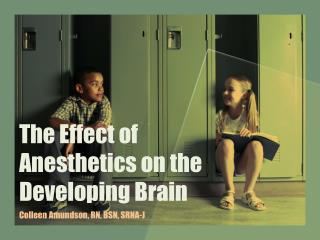 The Effect of Anesthetics on the Developing Brain