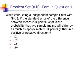 Problem Set 9/10--Part 1: Question 1