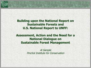 National Report on Sustainable Forests-2003