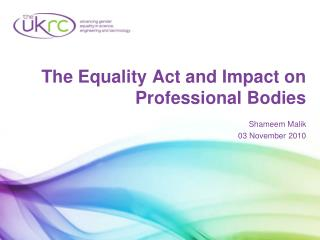 The Equality Act and Impact on Professional Bodies