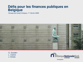 D�fis pour les finances publiques en Belgique