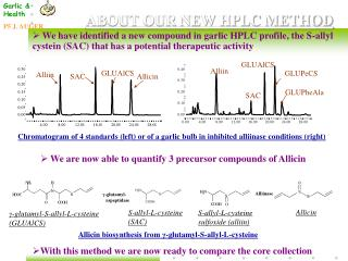 ABOUT OUR NEW HPLC METHOD