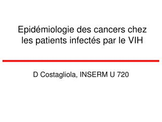 Epid miologie des cancers chez les patients infect s par le VIH