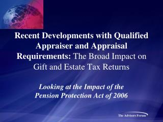 Looking at the Impact of the Pension Protection Act of 2006