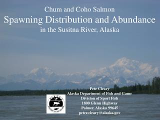 Chum and Coho Salmon Spawning Distribution and Abundance  in the Susitna River, Alaska