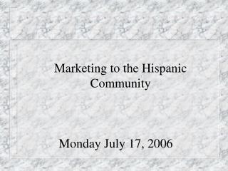 Monday July 17, 2006