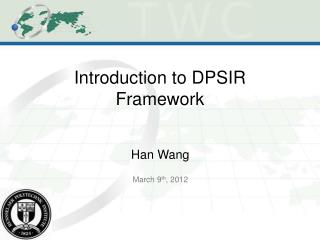 Introduction to DPSIR Framework