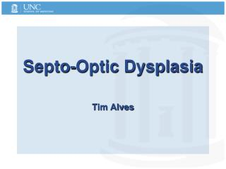 Septo-Optic Dysplasia   Tim Alves