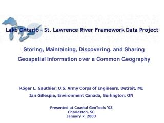 Storing, Maintaining, Discovering, and Sharing Geospatial Information over a Common Geography