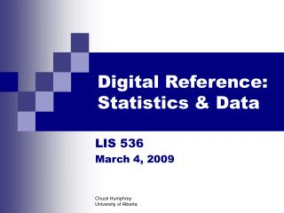 Digital Reference: Statistics & Data