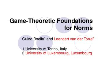 Game-Theoretic Foundations for Norms